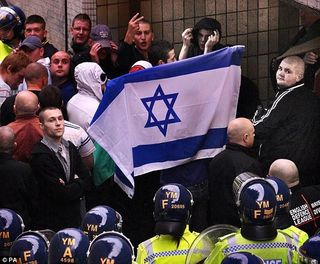 English neonazis heart israel